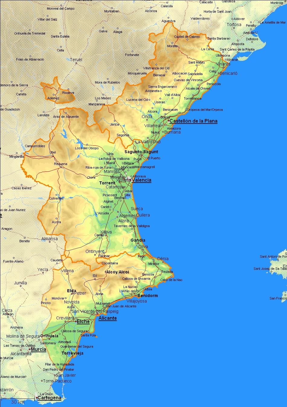 valencia karte Valencia Infos   Lage und Daten